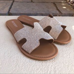 Bling Encrusted Sandals